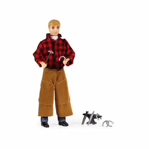 Breyer BH530 Traditional Farrier with Blacksmith Tools Perspective: front