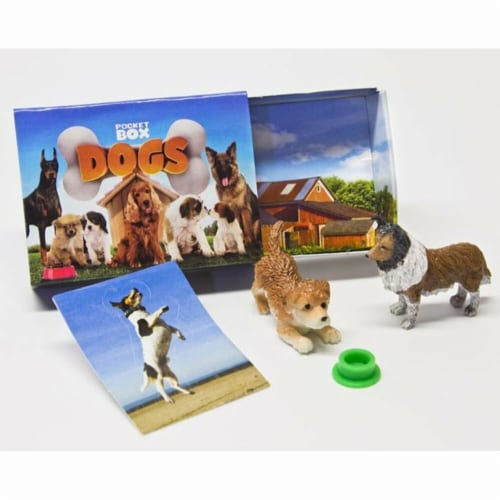 Breyer BH1583 Pocket Box Dogs Perspective: front