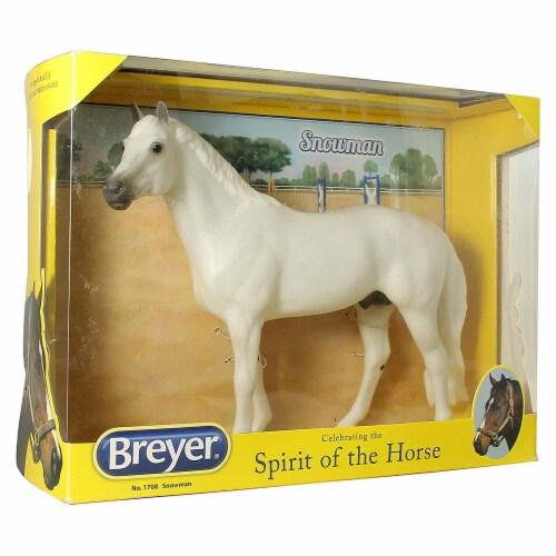 Breyer Snowman Horse Animal Figure 1708 Perspective: front