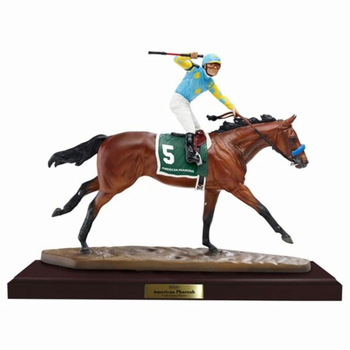 Breyer BH9180 American Pharoah Artists Resin Model Perspective: front