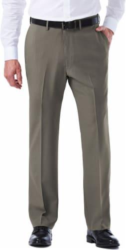 Haggar Men's E-Clo Classic Fit Dress Pants - Gray Perspective: front