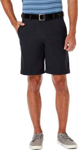 Haggar Men's Cool 18 Pro Regular Fit Stretch Shorts - Khaki Perspective: front