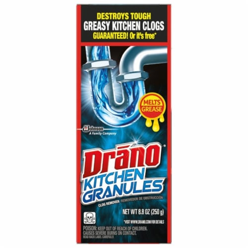 Drano Kitchen Crystals Clog Remover 8.8 oz. - Case Of: 6; Perspective: front
