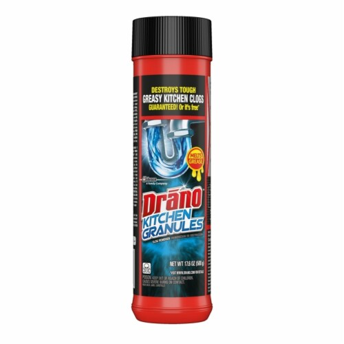 Drano Kitchen Granules, Odorless Scent, Canister, 1each 699028EA Perspective: front