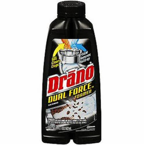 Drano Dual Force Foaming Liquid Drain Cleaner Perspective: front