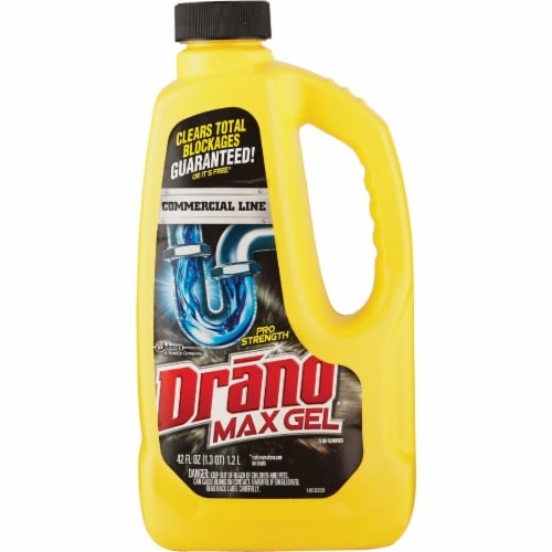 Drano 42 Oz. Commercial Line Max Gel Clog Remover 22118 Perspective: front