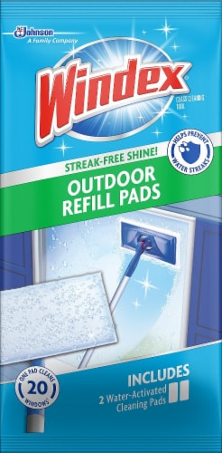 Windex® Outdoor All-In-One Cleaning System Refill Pad Perspective: front