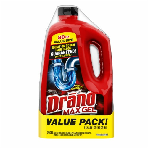 Drano Max Gel Clog Remover Twin Pack Perspective: front