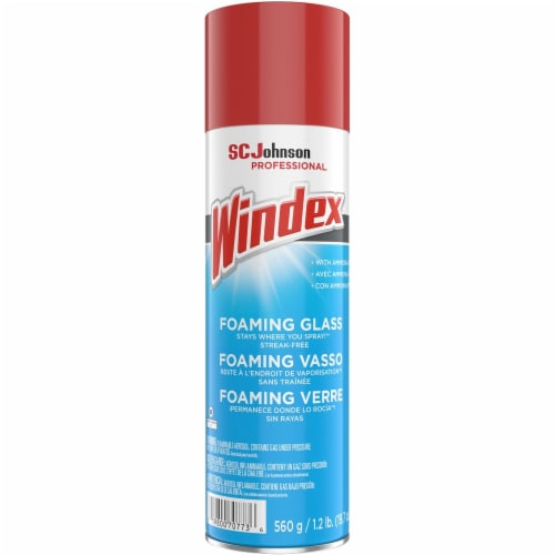 Glass Cleaner with Ammonia-D, 20 oz Aerosol Spray 333813EA Perspective: front
