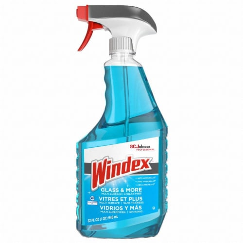 Windex Glass Cleaner,Ammonia-D,32 oz.,PK12  695237 Perspective: front