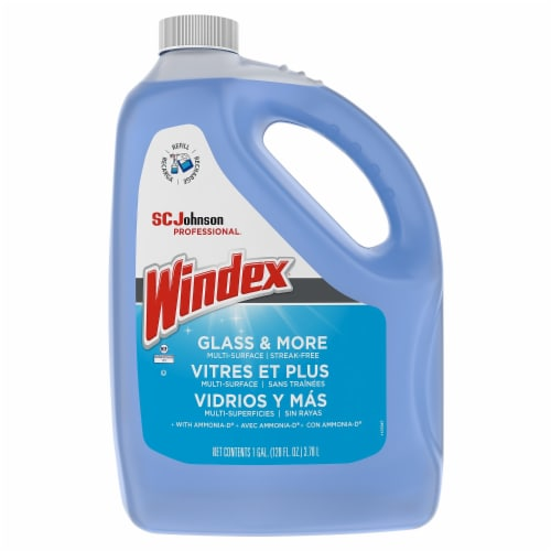 Windex Glass Cleaner,Jug,1 gal.  696503 Perspective: front