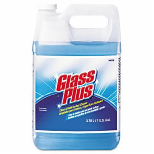 Glass Plus Glass Cleaner, Floral, 1gal Bottle, 4/Carton 94379 Perspective: front