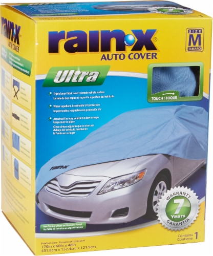 Rain X Ultra Car Cover - Blue Perspective: front