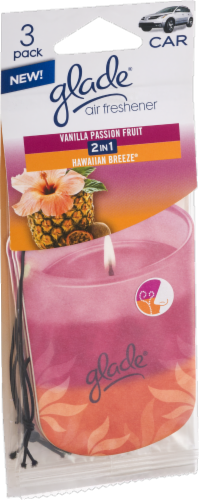 Glade Vanilla Passion Fruit/Hawaiian Breeze 2-in-1 Car Freshener Perspective: front
