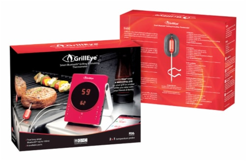 GrillEye Instant Read LED Barbecue Grill Thermometer - Case Of: 1; Perspective: front