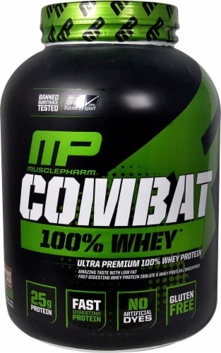 MusclePharm Chocolate Milk Combat 100% Whey Protein Powder Perspective: front