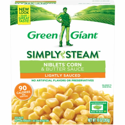 Green Giant Simply Steam Niblets Corn & Butter Sauce Perspective: front