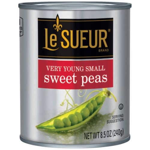 Le Sueur Very Young Small Early Peas Perspective: front