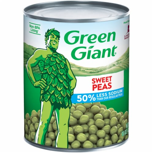 Green Giant Low Sodium Sweet Peas Perspective: front