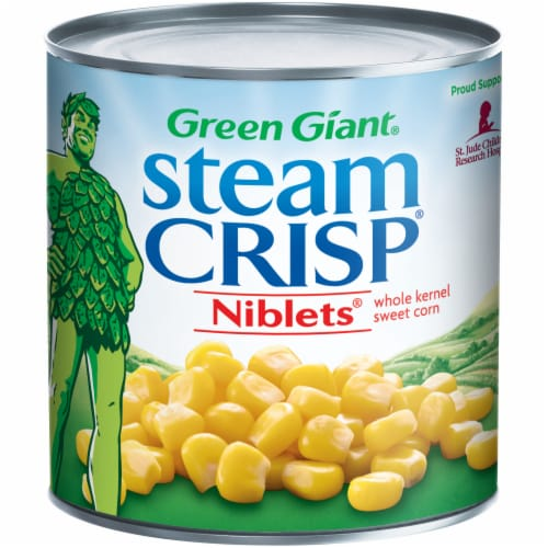 Green Giant Steam Crisp Whole Kernel Sweet Corn Niblets Perspective: front