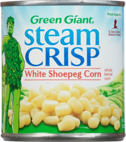 Green Giant Steam Crisp White Shoepeg Whole Kernel Corn Perspective: front