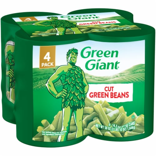 Green Giant Cut Green Beans - 4 Pack Perspective: front