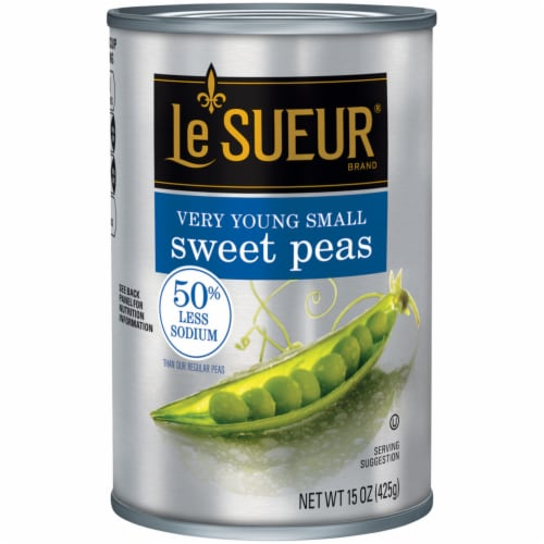 Le Sueur Reduced Sodium Very Young Small Sweet Peas Perspective: front