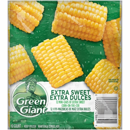 Green Giant Extra Sweet Corn-on-the-Cob Mini Ears Perspective: front