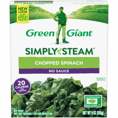 Green Giant Steamers Chopped Spinach Perspective: front