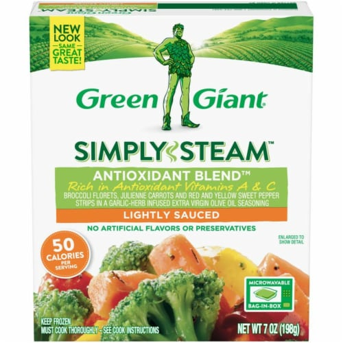 Green Giant Simply Steam Lighty Sauced Antioxidant Blend Vegetables Perspective: front