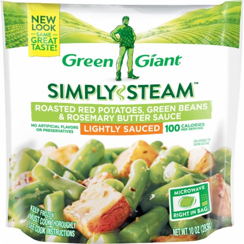 Green Giant Simply Steam Roasted Red Potatoes Green Beans & Rosemary Sauce Perspective: front
