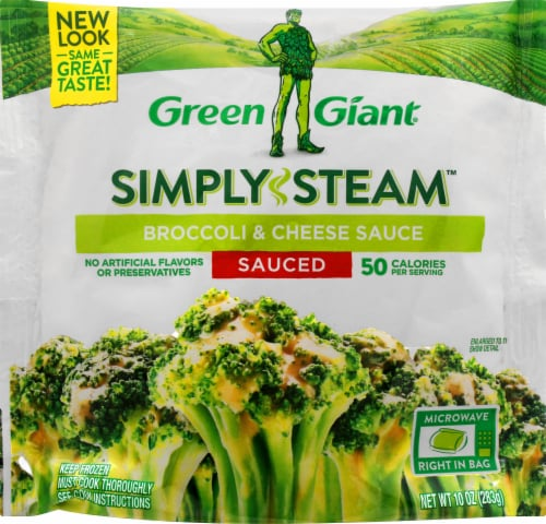 Green Giant Simply Steam Broccoli & Cheese Sauce Frozen Vegetables Perspective: front