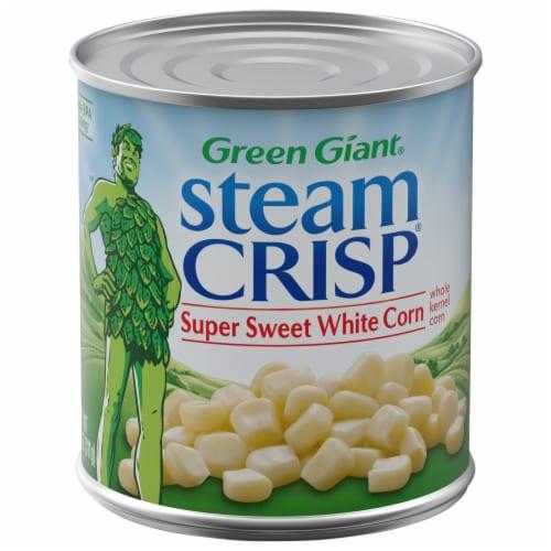 Green Giant Steam Crisp Super Sweet White Kernel Corn Perspective: front