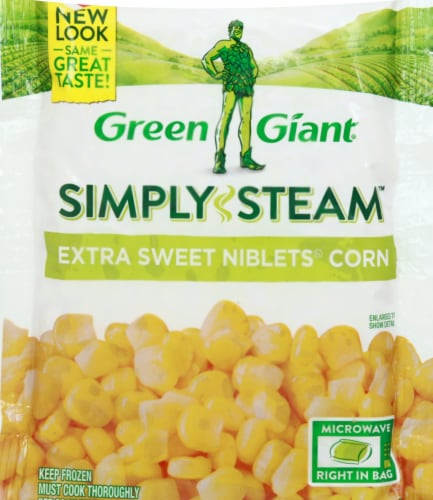 Green Giant Simply Steam Extra Sweet Niblets Corn Perspective: front