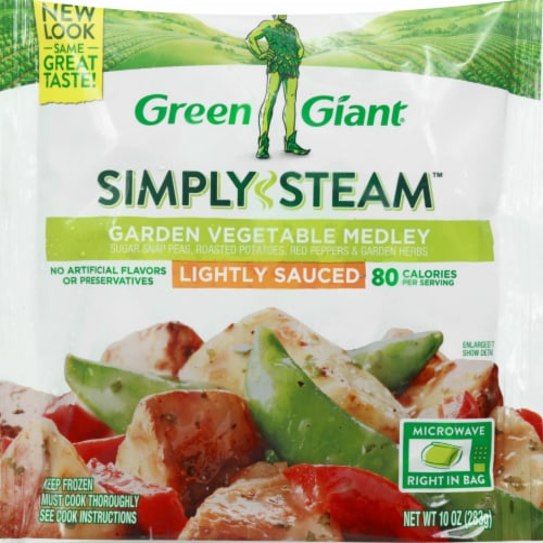 Green Giant Valley Fresh Steamers Garden Vegetable Medley Frozen Vegetables Perspective: front