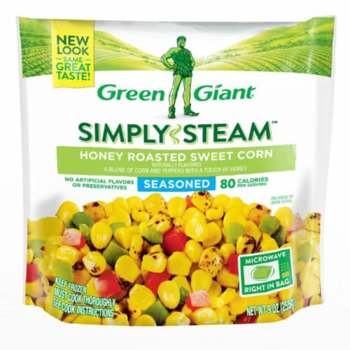 Green Giant Simply Steam Seasoned Honey Roasted Sweet Corn Perspective: front