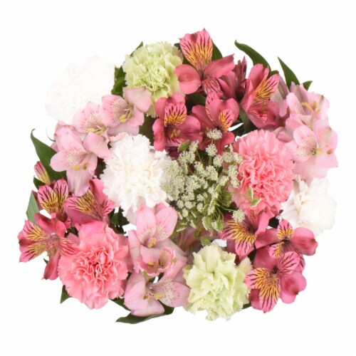 Alstro Carnations Bunch Blossoms Perspective: front