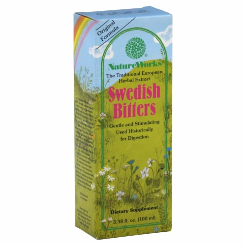 Nature Works Swedish Bitters Dietary Supplement Perspective: front
