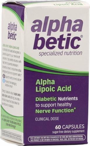 Enzymatic Therapy  Alpha Betic® Alpha Lipioc Acid Perspective: front