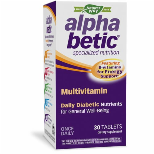 NatureWorks Alpha Betic Multi Vitamin Tablets Perspective: front