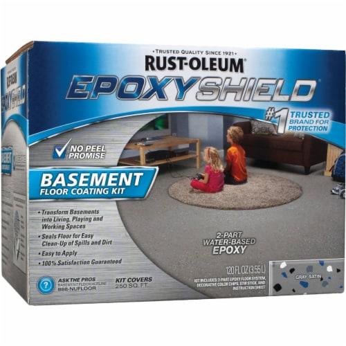 Rust-Oleum 203007 Epoxyshield Basement Floor Coating Kit Gray Perspective: front