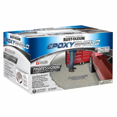 Rust-Oleum 203373 Epoxyshield Professional Floor Coating Kit Silver Gray Perspective: front