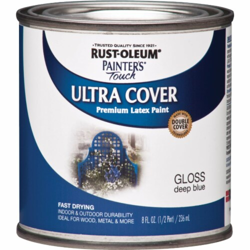 Rust-Oleum  Painter's Touch  Gloss  Deep Blue  Water-Based  Protective Enamel  Exterior and Perspective: front