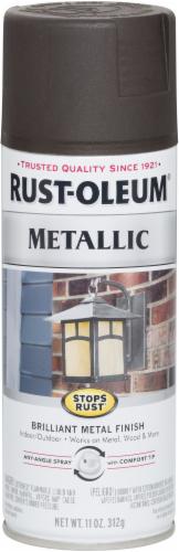 Rust-Oleum Stops Rust® Metallic Finish Spray - Oil Rubbed Bronze Perspective: front