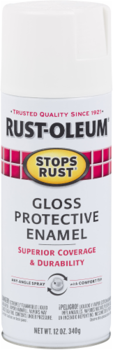 Rust-Oleum Stops Rust® Protective Enamel Gloss Spray Paint - Gloss Pure White Perspective: front