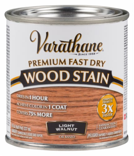 Varathane® Premium Fast Dry Wood Stain - Light Walnut Perspective: front