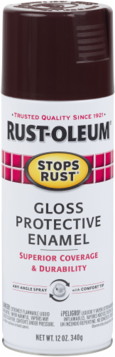 Rust-Oleum Stops Rust® Protective Enamel Gloss Spray Paint - Kona Brown Perspective: front