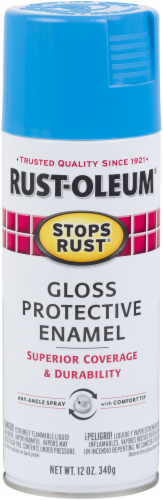 Rust-Oleum® Stops Rust® Maui Blue Protective Enamel Gloss Spray Perspective: front