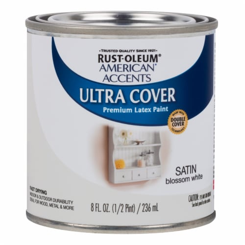 Rust-Oleum American Accents Ultra Cover Satin Premium Latex Paint - White Blossom Perspective: front