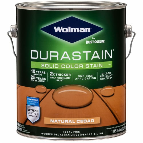 Wolman 288080 Durastain One Coat Solid Color Natural Cedar gal Perspective: front